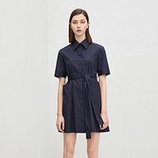 修身短袖衬衣女士连衣裙5180412399221