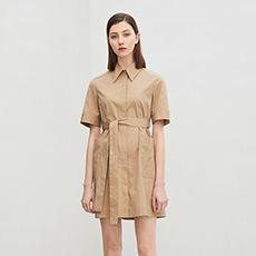 修身短袖女士衬衫连衣裙5180412399222