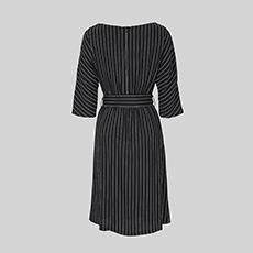 圆领竖条纹收腰修身女士连衣裙5180422191061