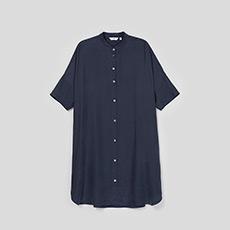 韩版气质长袖宽松立领衬衫式女士连衣裙5180422398561