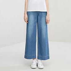 时尚宽松阔腿裤女士牛仔裤5180423050891