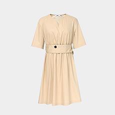 气质时尚收腰圆领短袖女士连衣裙5180512199561