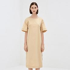 韩版宽松一步裙长裙气质女士短袖连衣裙5180512399631
