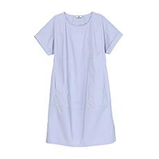 宽松直筒中袖圆领女士连衣裙5180512399881