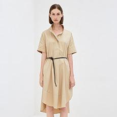 韩版纯棉宽松一步裙长裙气质短袖女士连衣裙5180512399931