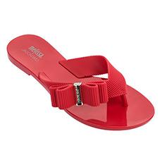 蝴蝶结纯色夹趾凉拖鞋32270