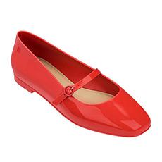 复古一字带女士单鞋32282
