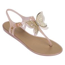 蝴蝶装饰甜美夹脚果冻凉鞋 M32289