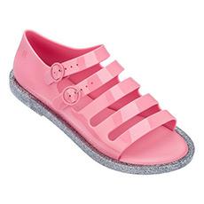时尚横条厚底露趾凉鞋32322