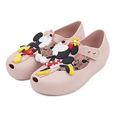 甜美迪士尼魔术贴鱼嘴小童凉鞋32376