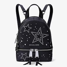 3色 Rhea Zip 超小号皮质星星铆钉装饰双肩背包