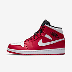 NIKE KICKS LOUNGE AIR JORDAN 1 MID 男子运动鞋 554724
