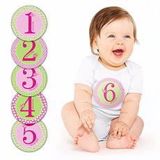 第一年宝宝成长月份贴纸