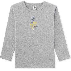 男中大童长袖圆领纯棉上衣T恤衫26457