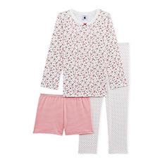 女童中大童睡衣裤套装3件装26516