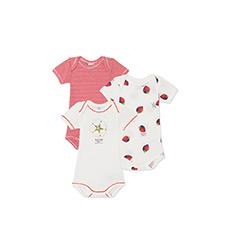 女婴短袖连体衣3件装套装26662