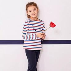 女童长袖条纹卫衣28221