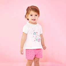 女宝宝短袖T恤28534