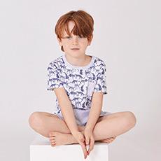 男童短袖睡衣套装43214