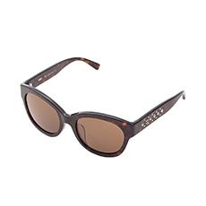 棕色镜框茶色镜片猫眼太阳镜