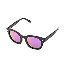 黑色镜框炫彩紫色镜片太阳镜