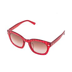 红色通透标识太阳镜