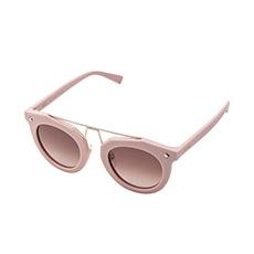 乳粉色镜框独特设计中梁个性太阳镜