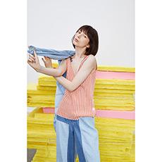 粉色短款吊带背心18010403