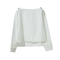 一字领纯棉衬衫18010702