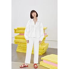 V领纯棉衬衫18010703