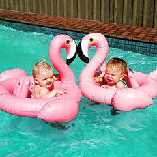 充气火烈鸟浮舟 游泳圈 儿童