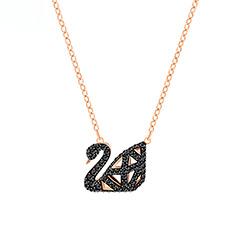 SWAN 时尚镂空黑天鹅女士项链
