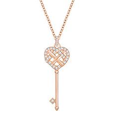 GREETING KEY 浪漫心形钥匙项链
