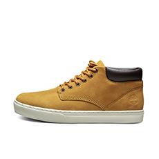 男鞋18春夏新款皮革中帮休闲板鞋|A1JTP