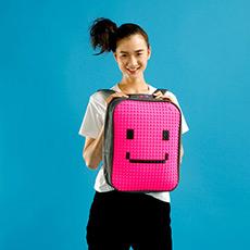 创意DIY环保拼图休闲运动包 14寸电脑背包