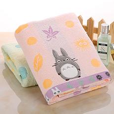蓬松龙猫纯棉卡通浴巾 柔软吸水