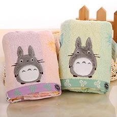 蓬松龙猫纯棉卡通面巾 柔软吸水