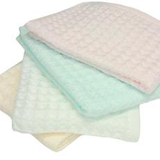 日本进口蜂巢中空纱巾华夫格方巾 柔软吸水
