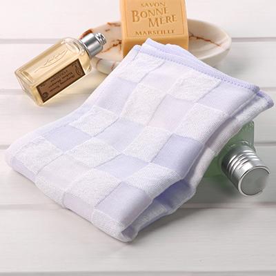 泰国进口中空纱纯棉方格方巾 柔软吸水