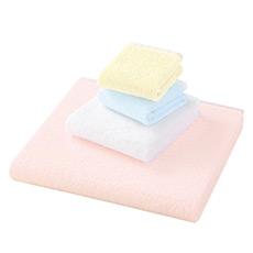 泰国进口粉嫩冰淇淋面巾 纯棉无捻纱 柔软吸水