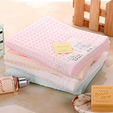 日本进口蜂巢中空纱巾华夫格面巾 柔软吸水