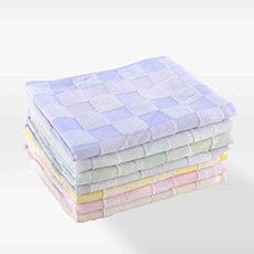 泰国进口中空纱纯棉方格面巾 柔软吸水