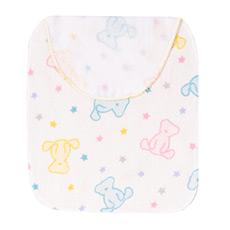 棉花糖三重纱彩色熊擦汗巾