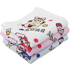 泰迪涂鸦印花纱布面巾