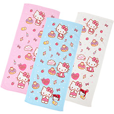 Hello Kitty甜甜圈印花面巾