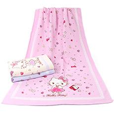 Hello Kitty宝石印花浴巾