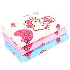 Hello Kitty甜甜圈印花浴巾