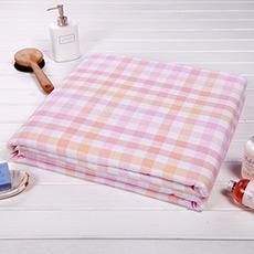 单面纱布方格纯棉毛巾被 吸湿透气