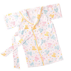 棉花糖三重纱进口宝宝婴儿纯棉浴衣浴袍