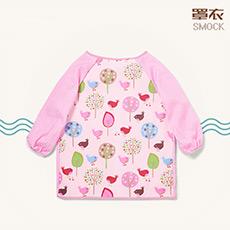 宝宝吃饭防水罩衣 儿童画画衣 反穿衣
